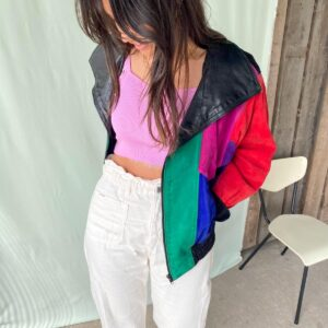 Leather 80's Bomber