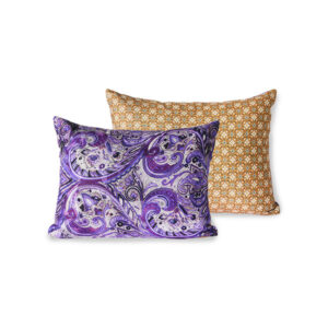 PRINTED CUSHION PURPLE
