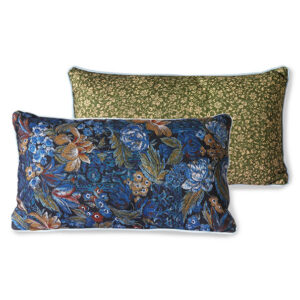 PRINTED CUSHION BLUE