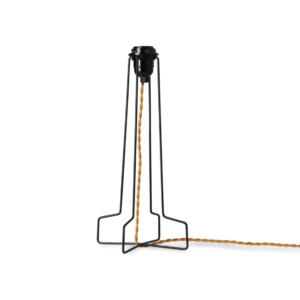METAL WIRE LAMP BASE BLACK PRE-ORDER 20-06