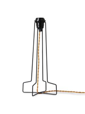 METAL WIRE LAMP BASE BLACK