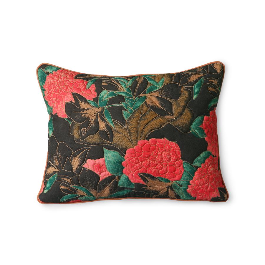 Doris vintage for Hk living kussen flower stiching vintage inspired