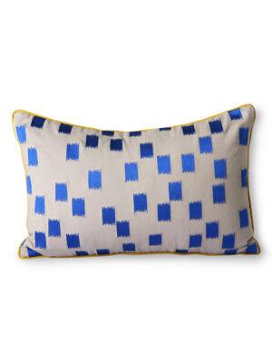 STICHED CUSHION BLUE BRUSH DORIS FOR HKLIVING TKU2134